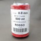 Оптом! SLAM нитки для кожи. 500 метров, толщина 0.8 мм. Красный.