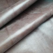 Кожа галантерейная теленок ВОСК коричневый 1.0 мм. отрез 28х83 см.
