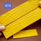 Кожа крокодила набор для часового ремешка со шлёвкой из 3-х предметов. Галантерейная выделка, Италия!