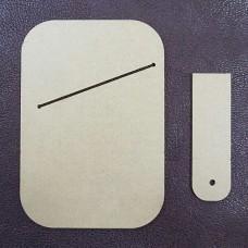 Шаблон трафарет (выкройка) из оргстекла для изготовления кардхолдера 108х75 мм.