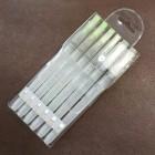 Водная кисть для работы с кожей АКВАБРАШ (акварельная кисть) набор из 6 штук (3 острые+3 плоские).
