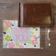 """Упаковка - пакет подарочный с самоклеящимся клапаном """"Thank you"""" 10х13+3 см."""