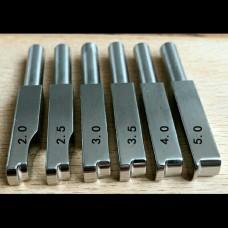Насадка для биговки на паяльник (1 штука) нержавейка тип 2 размер 4.0
