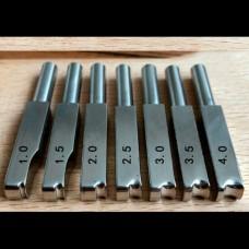 Насадка для биговки на паяльник (1 штука) нержавейка тип 1 размер 1.5