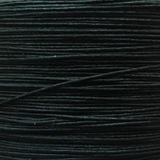 Нитки для кожи льняные в капсуле 0.45 мм. 120 метров. Цвет чёрный.