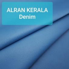 Полукожа козлёнок Alran Kerala голубой деним ДВОЁНЫЙ до 0.8 мм. 19 дм.кв.