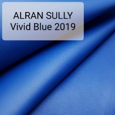 """Полукожа козлёнок Alran Sully синий """"Бугатти"""" цвет ДВОЁНЫЙ до 0.55 мм. 24 дм.кв."""