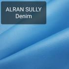 Полукожа козлёнок Alran Sully голубой цвет ДВОЁНЫЙ до 0.6 мм. 21 дм.кв.