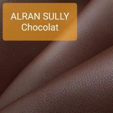 Кожа козлёнок Alran Sully шоколадный коллекция 2019 38 дм.