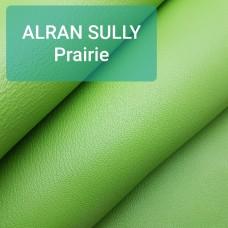 Кожа козлёнок Alran Sully салатовый ДВОЁНЫЙ до 0.6 мм. ПОЛУКОЖА 26 дм.кв.