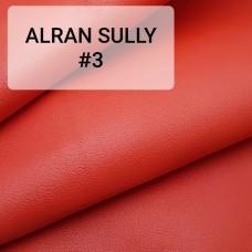 Полукожа козлёнок Alran Sully красный цвет ДВОЁНЫЙ до 0.6 мм. 22 дм.кв.