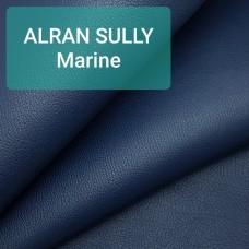 Кожа козлёнок Alran Sully тёмно-синий ДВОЁНЫЙ до 0.6 мм. ПОЛУКОЖА 25 дм.кв.