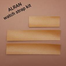 Кожа козлёнок Alran Sully золотисто-коричневый набор для часового ремешка со шлёвкой из 3-х предметов.