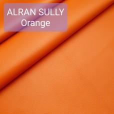 Полукожа козлёнок Alran Sully оранжевый цвет ДВОЁНЫЙ до 0.55 мм. 21 дм.кв.