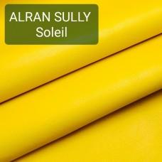 Полукожа козлёнок Alran Sully жёлтый цвет ДВОЁНЫЙ до 0.6 мм. 27 дм.кв.