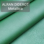 Кожа козлёнок Alran Diderot металлик зелёный 40 дм. ДВОЁНЫЙ до 0.8 мм.
