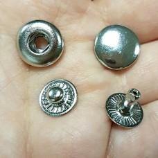 """Фурнитура - кнопка """"Альфа"""". Размер 12.7 мм. 100% латунь + НИКЕЛЬ."""