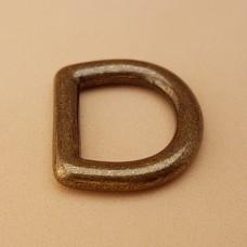 Фурнитура премиум - полукольцо 12.7 мм. латунь + покрытие антик.