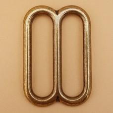 Фурнитура премиум - рамка для ремня 38 мм. латунь + покрытие никель.