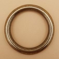 Фурнитура премиум - кольцо неразъёмное 32 мм. латунь + покрытие антик.