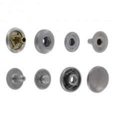 """Фурнитура - кнопка """"Альфа"""". Размер 12.7 мм. 100% латунь + МАТОВЫЙ НИКЕЛЬ."""