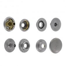 """Фурнитура - кнопка """"Зажим с кольцом"""". Размер 12.7 мм. 100% латунь + МАТОВЫЙ НИКЕЛЬ."""