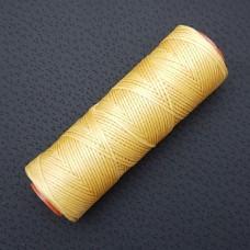 DAFNA нитки для кожи. 100 м. 1.0 мм. желтый охра.