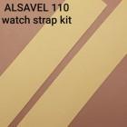 Набор подкладок для часового ремешка Alsavel lining 2 штуки 3.2х15.7 см. ДВОЁНЫЙ 2 сорт 0.8 мм.