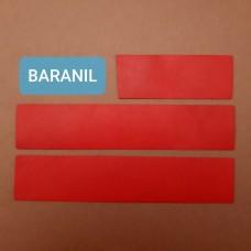 Кожа телёнок Degermann Baranil красный цвет набор для часового ремешка со шлёвкой из 3-х предметов. Двоёный!