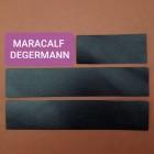 Кожа телёнок Degermann Maracalf чёрный цвет набор для часового ремешка со шлёвкой из 3-х предметов. Двоёный!