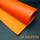 Кожа телёнка SOFTY GR DAUPHIN отрез 21х23 см. оранжевый Hermes.