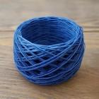 Нитки для шитья кожи вощёные, плетёные. Полиэстер 30 метров, толщина 0.8 мм. Цвет - синий. SLAM.
