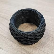 SLAM нитки для кожи. 30 м. 0.8 мм. Цвет - чёрный.