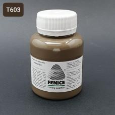 Термокраска для уреза кожи Fenice 80 гр. Матовый кофе с молоком холодный тон.