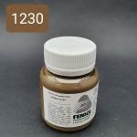 Термокраска для уреза кожи Fenice 80 гр. Матовый серо-коричневый.