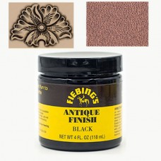 Краска для кожи АНТИК ПАСТА (antique finish dye) Fiebing's 4 FL OZ 118 мл. Цвет - Black.