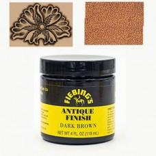 Краска для кожи АНТИК ПАСТА (antique finish dye) Fiebing's 4 FL OZ 118 мл. Цвет - Dark Brown.