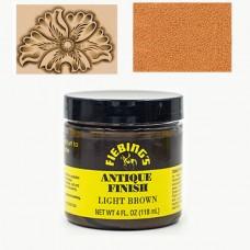Краска для кожи АНТИК ПАСТА (antique finish dye) Fiebing's 4 FL OZ 118 мл. Цвет - Light Brown.