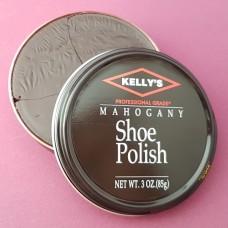 Финишная оттеночная полироль для изделий из гладких кож Kellys Paste Wax - 85 гр. Mahogany.