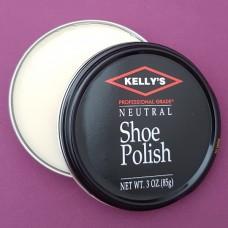 Финишная оттеночная полироль для изделий из гладких кож Kellys Paste Wax - 85 гр. Топ для глассажа Neutral.