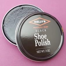 Финишная оттеночная полироль для изделий из гладких кож Kellys Paste Wax - 85 гр. Black.