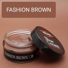 Крем для изделий из гладких кож Kelly's Shoe Cream - 42.5 гр. FASHION BROWN.