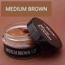 Крем для изделий из гладких кож Kelly's Shoe Cream - 42.5 гр. MEDIUM BROWN.