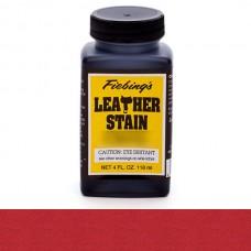 Краска для кожи проникающая на основе льняного масла - Fiebing's Leather Stain. 118 мл.  цвет - Cherry Red