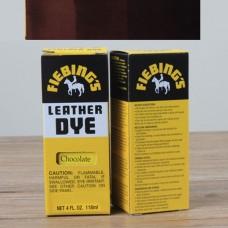 Краска для кожи проникающая - Fiebings Leather Dye. 113 грамм. Цвет - Regular chokolate.