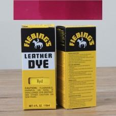 Краска для кожи проникающая - Fiebings Leather Dye. 113 грамм. Цвет - Regular red.
