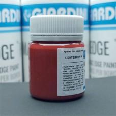 Краска для уреза кожи GIARDINI MAXEDGE Pro 50 гр. матовый светло-коричневый.