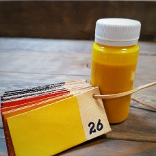 Краска для кожи Giardini MAXCRAFT 100 гр. жёлтый.