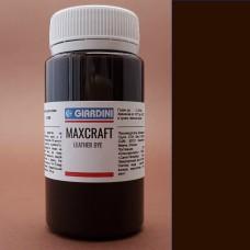 """Краска для кожи Giardini MAXCRAFT 100 гр. """"Миланская коллекция"""" тёмно-коричневый."""