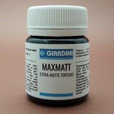 Краска для уреза кожи GIARDINI MAXMATT 40 гр. EXTRA-MATTE TOPCOAT чёрный экстраматовый.